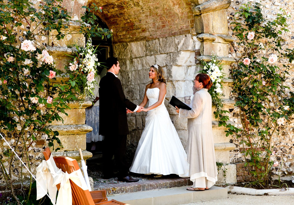 Couple getting married at the Castle